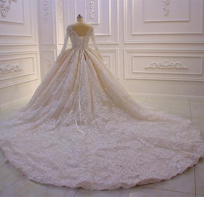 Designer Brautkleider Luxus | Spitze Hochzeitskleider mit Ärmel_5