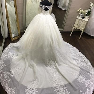 Luxury Brautkleider Spitze Mit Lange Ärmel Prinzessin Hochzeitskleider Günstig Online_3