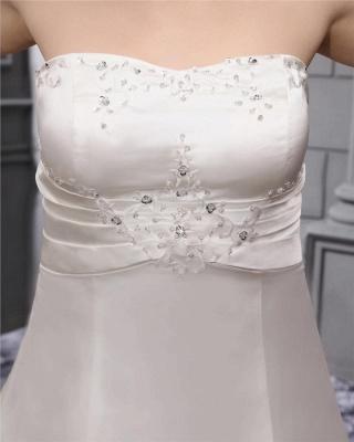 Weiß Brautkleider in Großen Größen Hochzeitskleider Übergrößen Billig_4