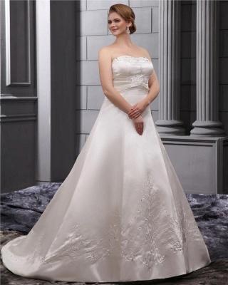 Weiß Brautkleider in Großen Größen Hochzeitskleider Übergrößen Billig_2