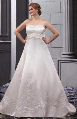 Weiß Brautkleider in Großen Größen Hochzeitskleider Übergrößen Billig_1