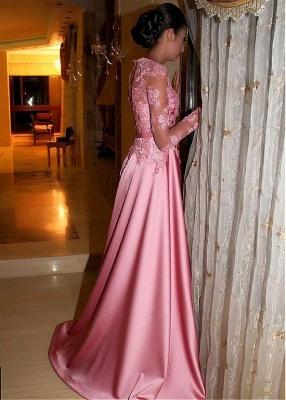 Fashion Abiballkleider Lang Rosa | Abendkleider mit Ärmel ...
