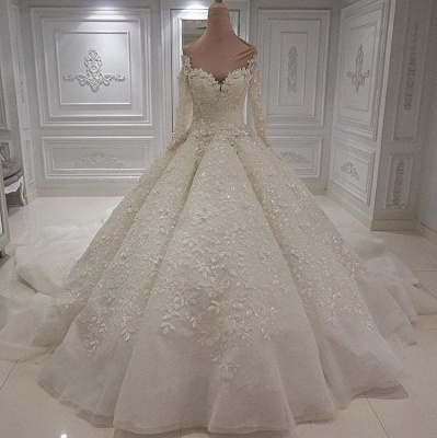 Extravagante Brautkleider Online Kaufen | Hochzeitskleid Langarm_2