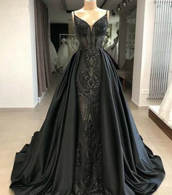 Abendkleider Lang Glitzer | Schwarze Abiballkleider mit Spitze