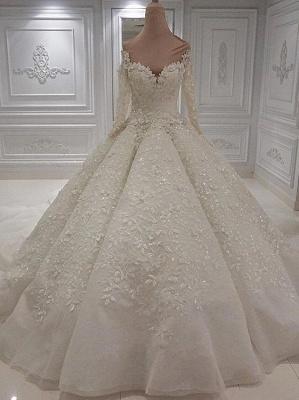 Extravagante Brautkleider Online Kaufen | Hochzeitskleid Langarm_4