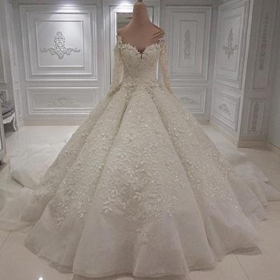 Extravagante Brautkleider Online Kaufen | Hochzeitskleid Langarm_1
