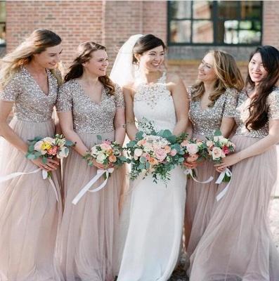 Elegante Brautjungfernkleider mit Ärmel | Kleider für Brautjungfern_3