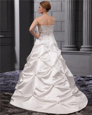 Plus Size Wedding Dresses White Beaded Princess Plus Size Wedding Dresses_4