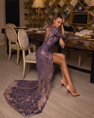 Luxus Abendkleider Lang Glitzer | Abiballkleider Abendmoden Mit Spitze_2