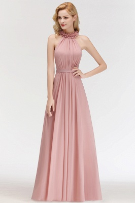 Elegant Chiffon Bridesmaid Dresses Dusty Pink Sheath Dresses For Bridesmaids Cheap_3