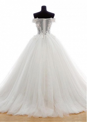 New Wedding Dresses Princess Tulle Floor Length Bridal Gowns With Lace_2