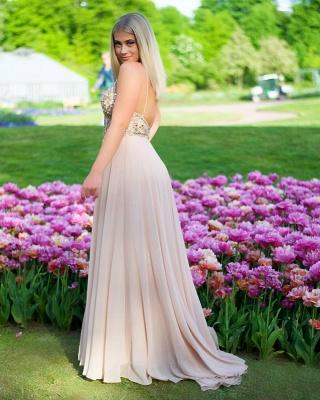 Elegante Abendkleider Chiffonkleider | Abschlussballkleider Lang Günstig_2