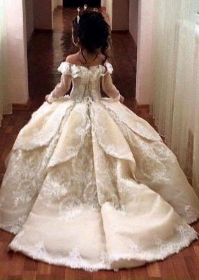 Günstige Blumenmädchenkleider Online Blumenkinder Kleider Hochzeit Mit Spitze_1