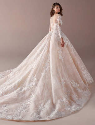 Fashion wedding dresses with sleeves a line wedding dresses cheap online_3