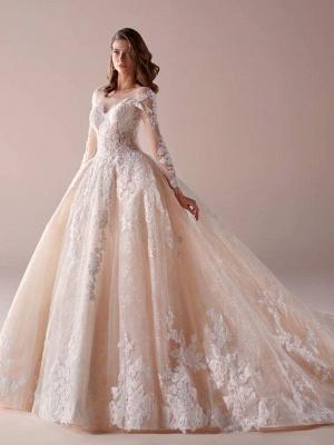 Fashion Brautkleider Mit Ärmel A Linie Hochzeitskleider Günstig Online_1