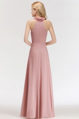 Elegant Chiffon Bridesmaid Dresses Dusty Pink Sheath Dresses For Bridesmaids Cheap_4