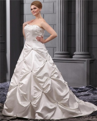 Plus Size Wedding Dresses White Beaded Princess Plus Size Wedding Dresses_3