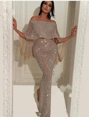 Elegante Abendkleider Mit Glitzer | Abiballkleid Lang Günstig Online_1