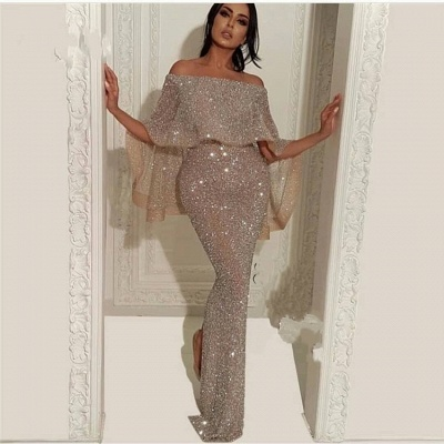 Elegante Abendkleider Mit Glitzer | Abiballkleid Lang Günstig Online_2