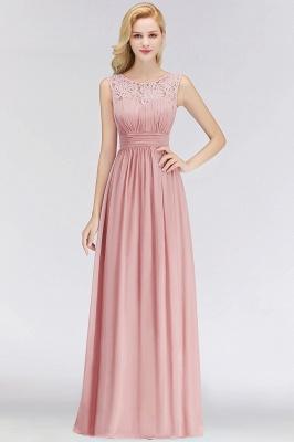 Elegant Altrosa Brautjungfernkleider Chiffon Lang Pink Kleider Brautjungfern_2