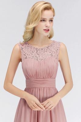 Elegant Altrosa Brautjungfernkleider Chiffon Lang Pink Kleider Brautjungfern_3