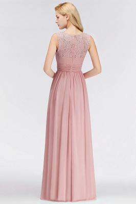 Elegant Altrosa Brautjungfernkleider Chiffon Lang Pink Kleider Brautjungfern_4