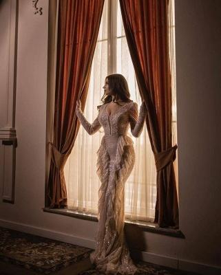 Designer prom dresses long glitter | Evening dresses with sleeves_2