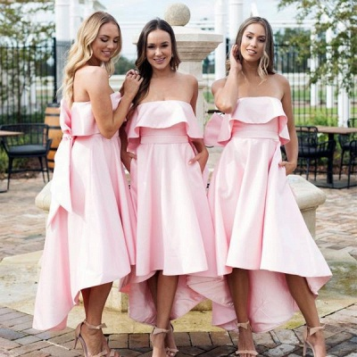 Beautiful bridesmaid dresses pink short | Dresses for bridesmaids_4