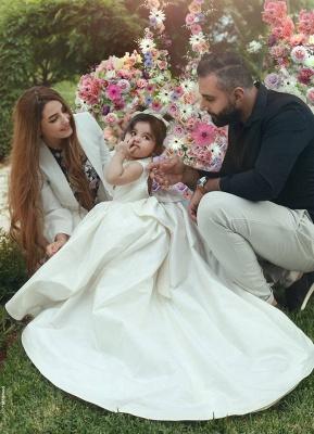 Designer Blumenmädchenkleider Günstig Prinzessin Satin Kinder Kleider für Blumenmädchen_3