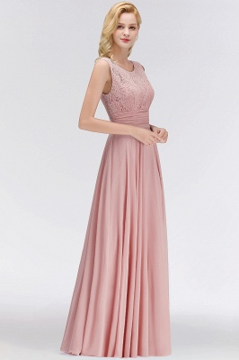 Elegant bridesmaid dresses long dusty pink with lace sheath dresses for bridesmaids_2