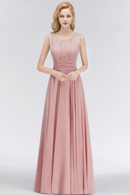 Elegant bridesmaid dresses long dusty pink with lace sheath dresses for bridesmaids_1