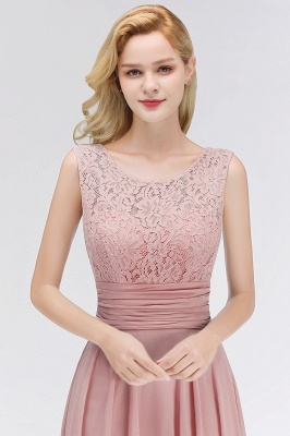 Elegant bridesmaid dresses long dusty pink with lace sheath dresses for bridesmaids_3