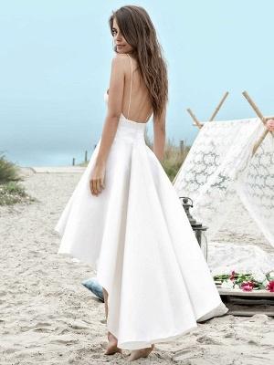 Schlichte Brautkleider Kurz Vorne Lang Hinter Hochzeitskleider A Linie_2