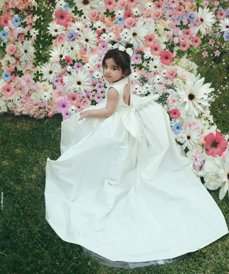 Designer Blumenmädchenkleider Günstig Prinzessin Satin Kinder Kleider für Blumenmädchen_4