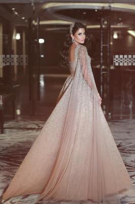 Luxury Abendkleider Lang Günstig A linie Perlen Abiballkleider Abendmoden Online Shop_2