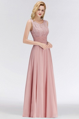 Elegant bridesmaid dresses long dusty pink with lace sheath dresses for bridesmaids_5