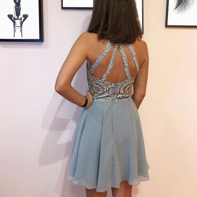 Designer cocktail dresses short | Silver prom dresses with lace_2