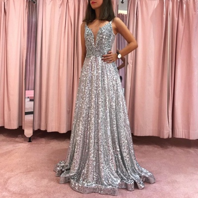 Beautifully Long Evening Dresses With Glitter | Prom dresses online prom dresses_2