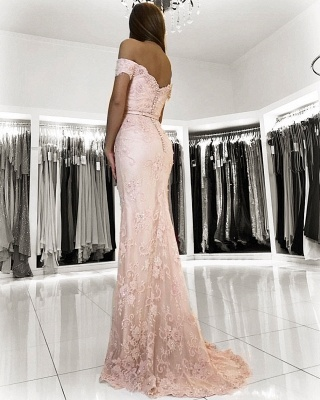 Rosa Abendkleid Spitze | Lange Abendkleider Günstig Online_2