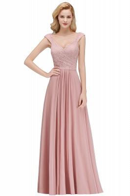 Fashion Bridesmaid Dresses Pink Lace Chiffon Long Dusty Pink Bridesmaid Dresses_3