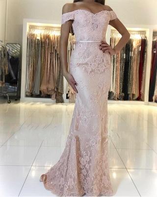 Rosa Abendkleid Spitze | Lange Abendkleider Günstig Online_1