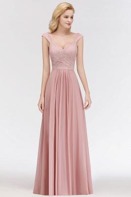 Fashion Bridesmaid Dresses Pink Lace Chiffon Long Dusty Pink Bridesmaid Dresses_1