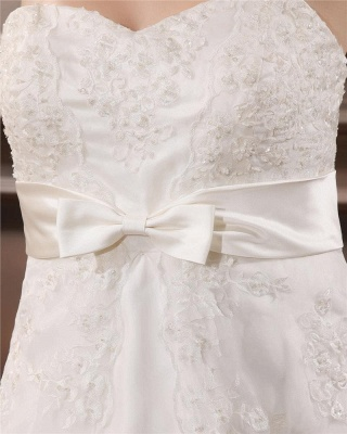 Ivory Wedding Dresses Plus Size Lace With Train Wedding Gowns Plus Size Cheap_3