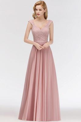 Fashion Bridesmaid Dresses Pink Lace Chiffon Long Dusty Pink Bridesmaid Dresses_2