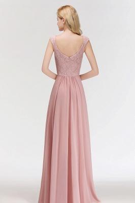 Fashion Bridesmaid Dresses Pink Lace Chiffon Long Dusty Pink Bridesmaid Dresses_5