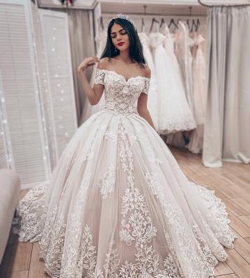 Luxus Brautkleider Prinzessin | Spitze Hochzeitskleider Online Kaufen_3