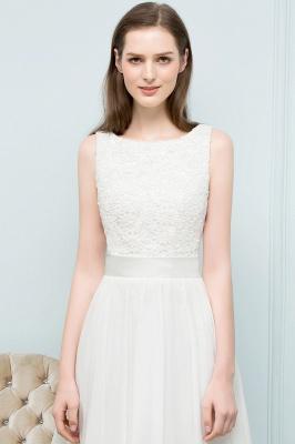Elegante Weiße Hochzeitskleider Kurz Mit Spitze A Line Brautkleider Günstig Online_3
