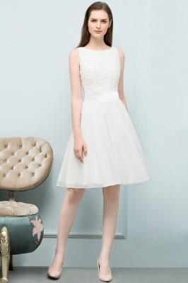 Elegante Weiße Hochzeitskleider Kurz Mit Spitze A Line Brautkleider Günstig Online_1
