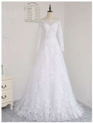 Wedding dresses with sleeves and lace | Wedding dress A line simple_1