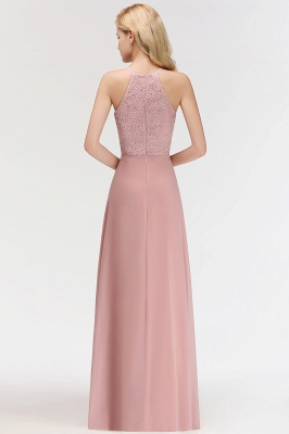New Bridesmaid Dresses Long Pink With Lace Chiffon Bridesmaid Dresses_5